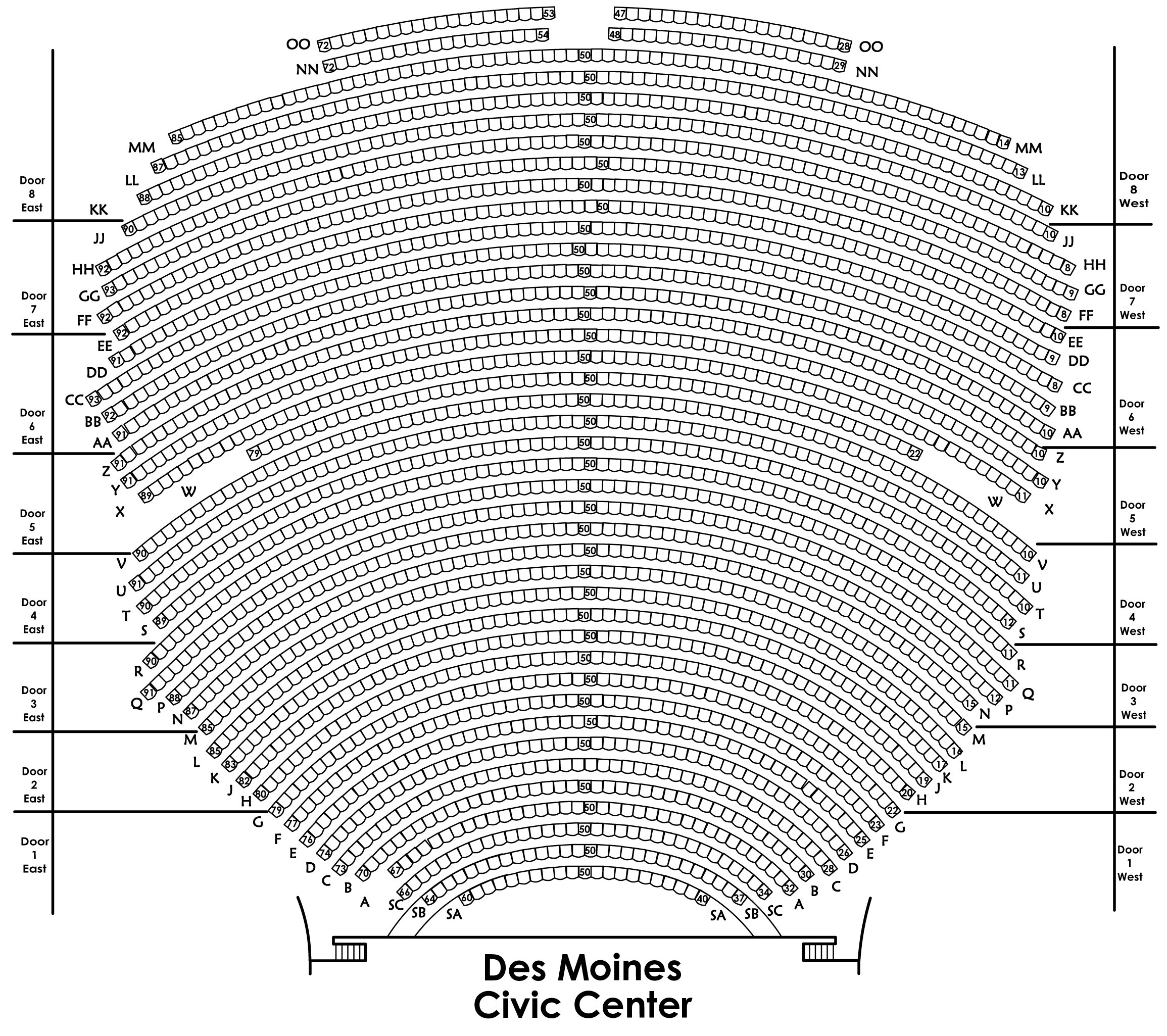 Seating Charts - Des Moines Performing Arts